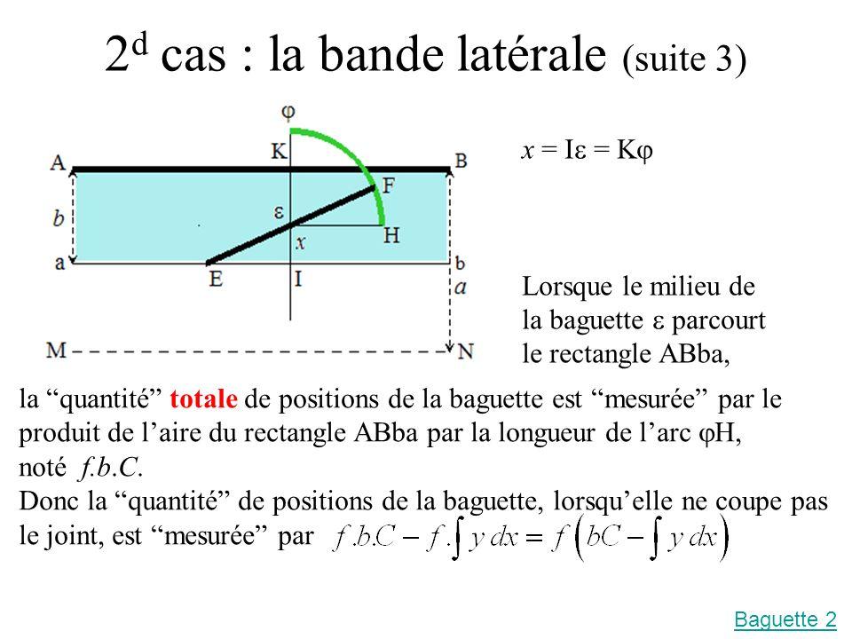2d cas : la bande latérale (suite 3)