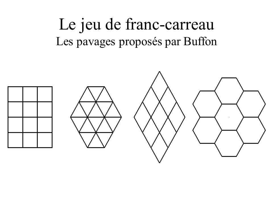 Le jeu de franc-carreau Les pavages proposés par Buffon