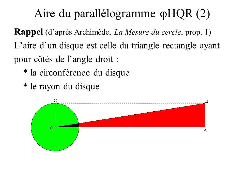 Aire du parallélogramme jHQR (2)