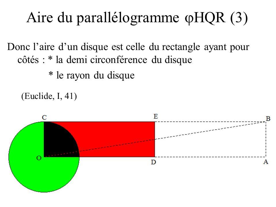 Aire du parallélogramme jHQR (3)