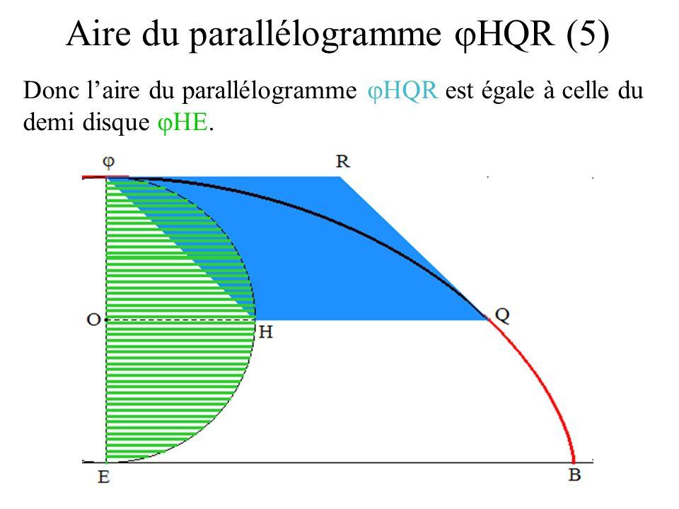 Aire du parallélogramme jHQR (5)