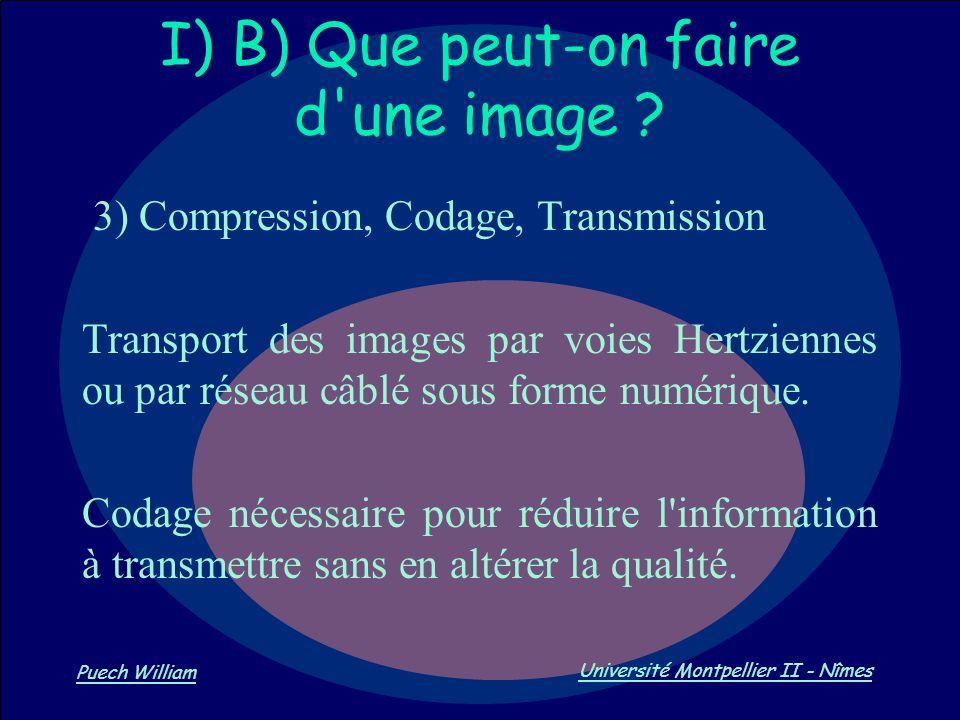 I) B) Que peut-on faire d une image