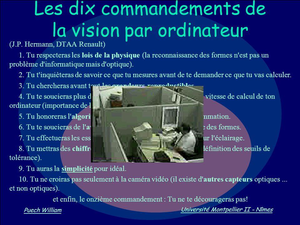 Les dix commandements de la vision par ordinateur