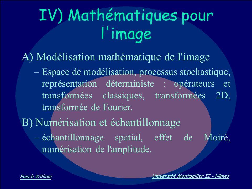 IV) Mathématiques pour l image