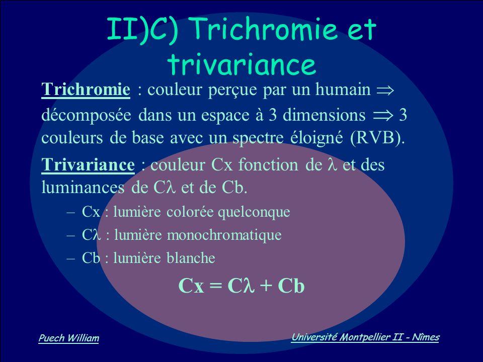 II)C) Trichromie et trivariance