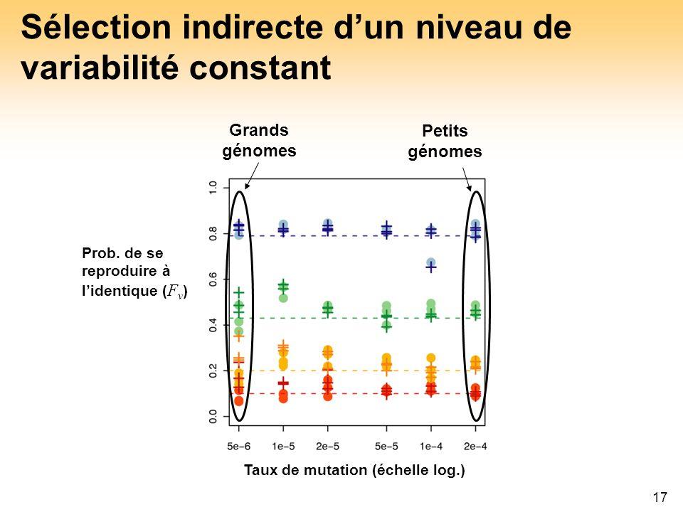 Sélection indirecte d'un niveau de variabilité constant