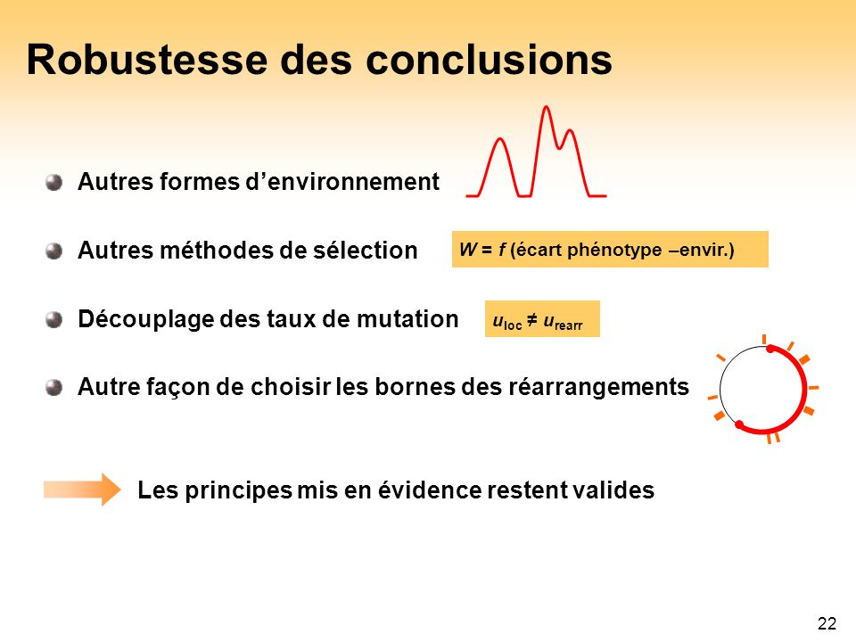 Robustesse des conclusions