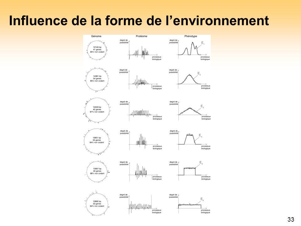 Influence de la forme de l'environnement