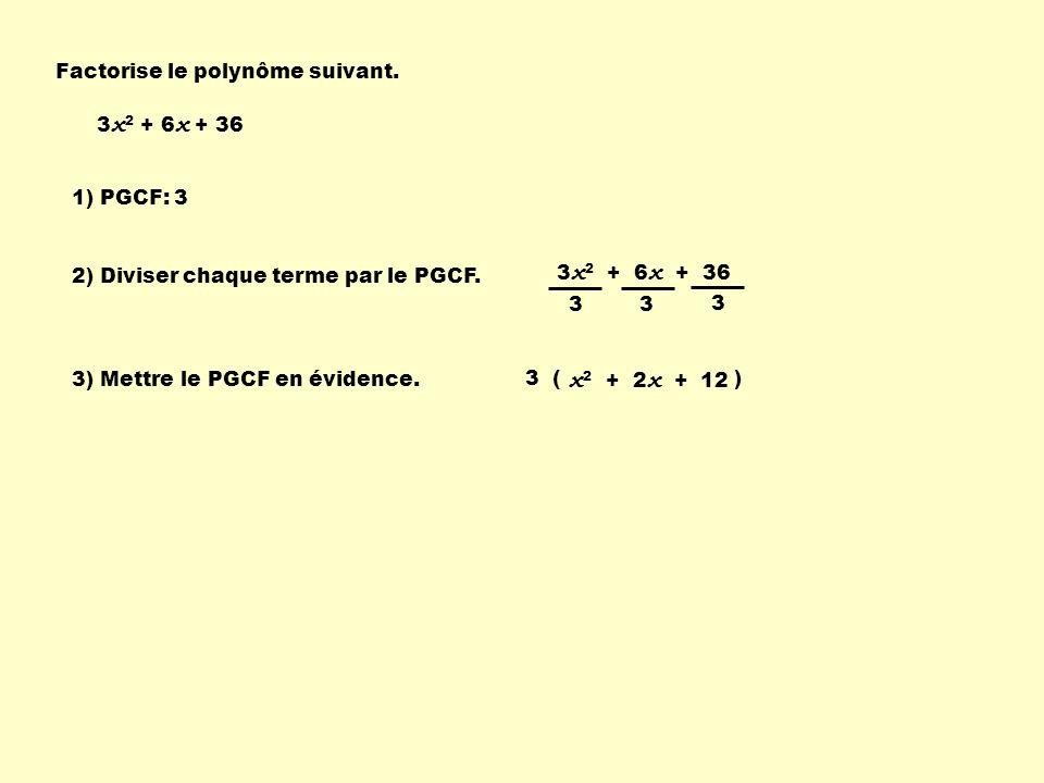 Factorise le polynôme suivant.
