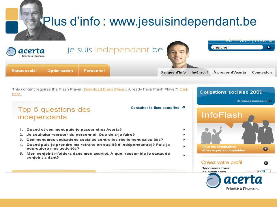 Plus d'info : www.jesuisindependant.be
