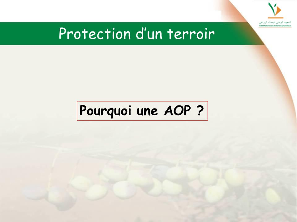 Protection d'un terroir