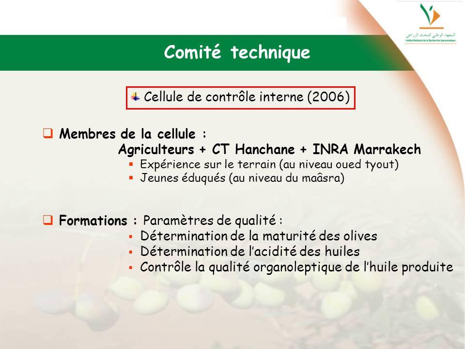Comité technique Cellule de contrôle interne (2006)