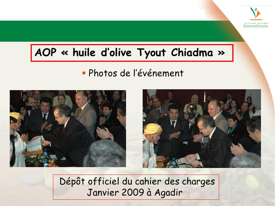 AOP « huile d'olive Tyout Chiadma »