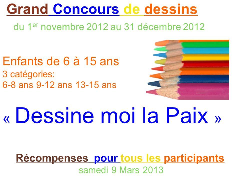 Grand Concours de dessins du 1er novembre 2012 au 31 décembre 2012