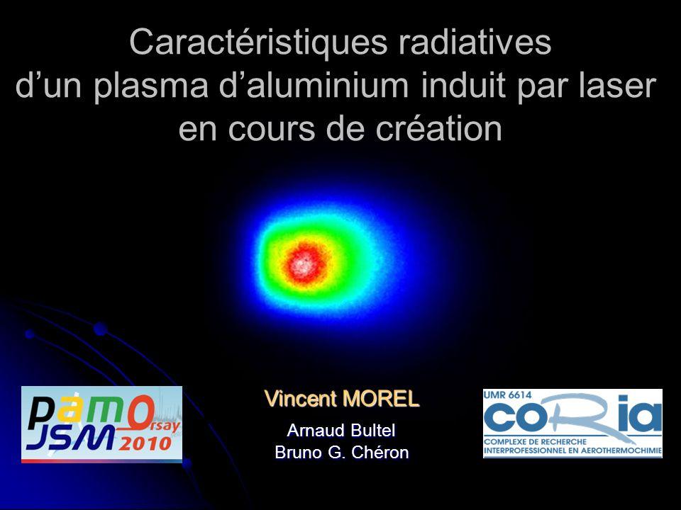 Caractéristiques radiatives d'un plasma d'aluminium induit par laser