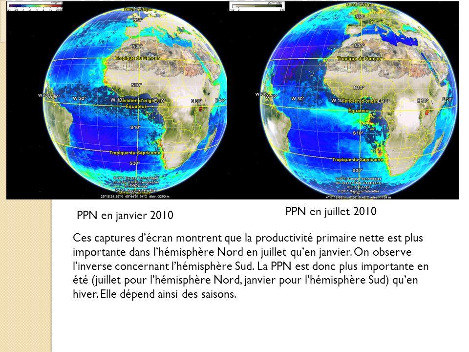 PPN en juillet 2010 PPN en janvier 2010.