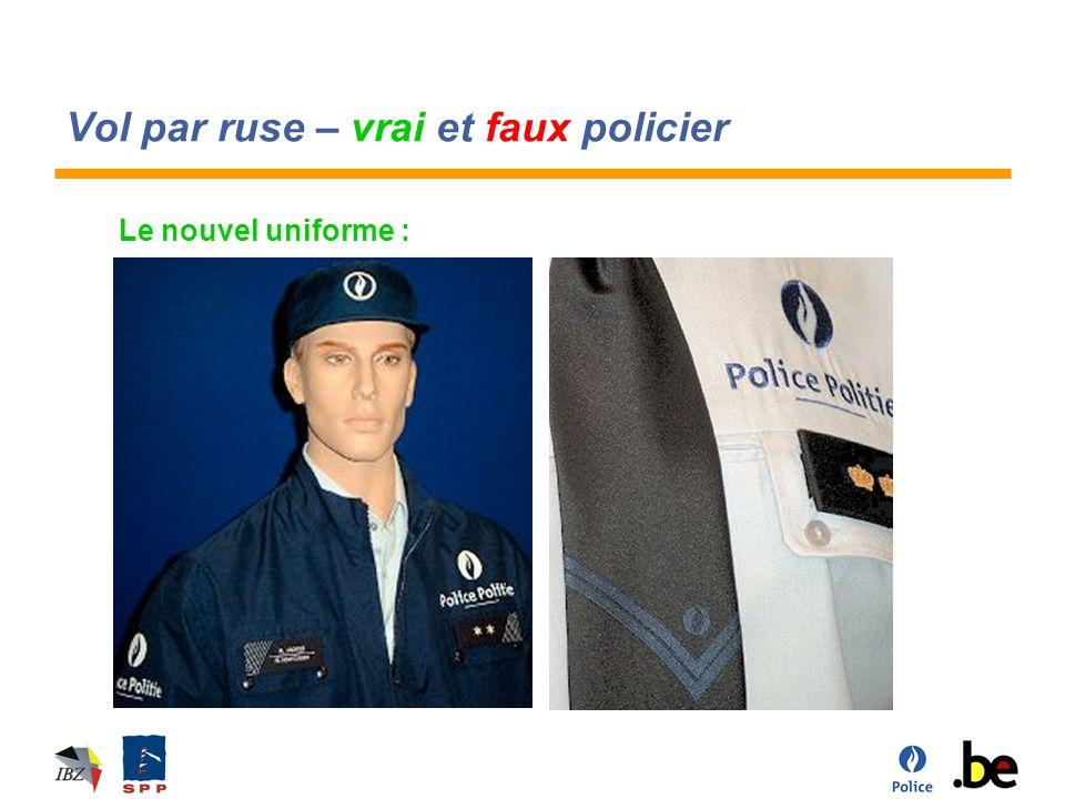 Vol par ruse – vrai et faux policier