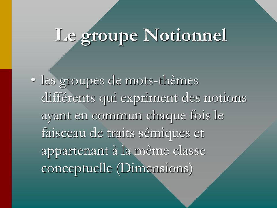 Le groupe Notionnel