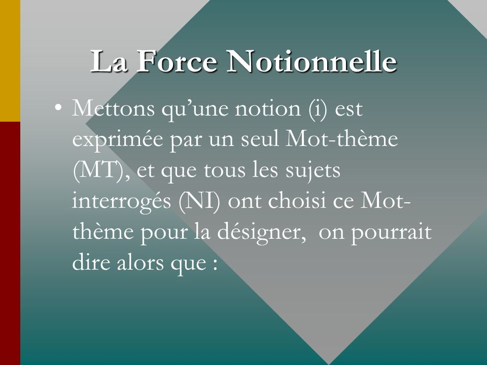 La Force Notionnelle