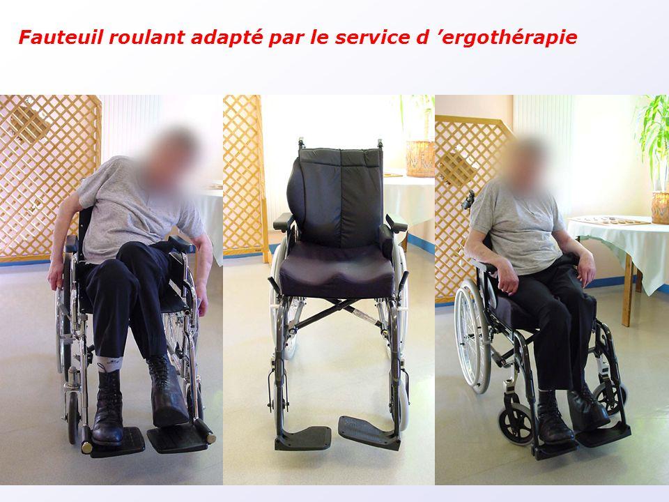 Fauteuil roulant adapté par le service d 'ergothérapie