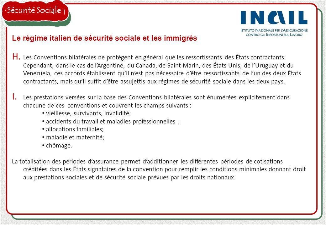 Sécurité Sociale Le régime italien de sécurité sociale et les immigrés