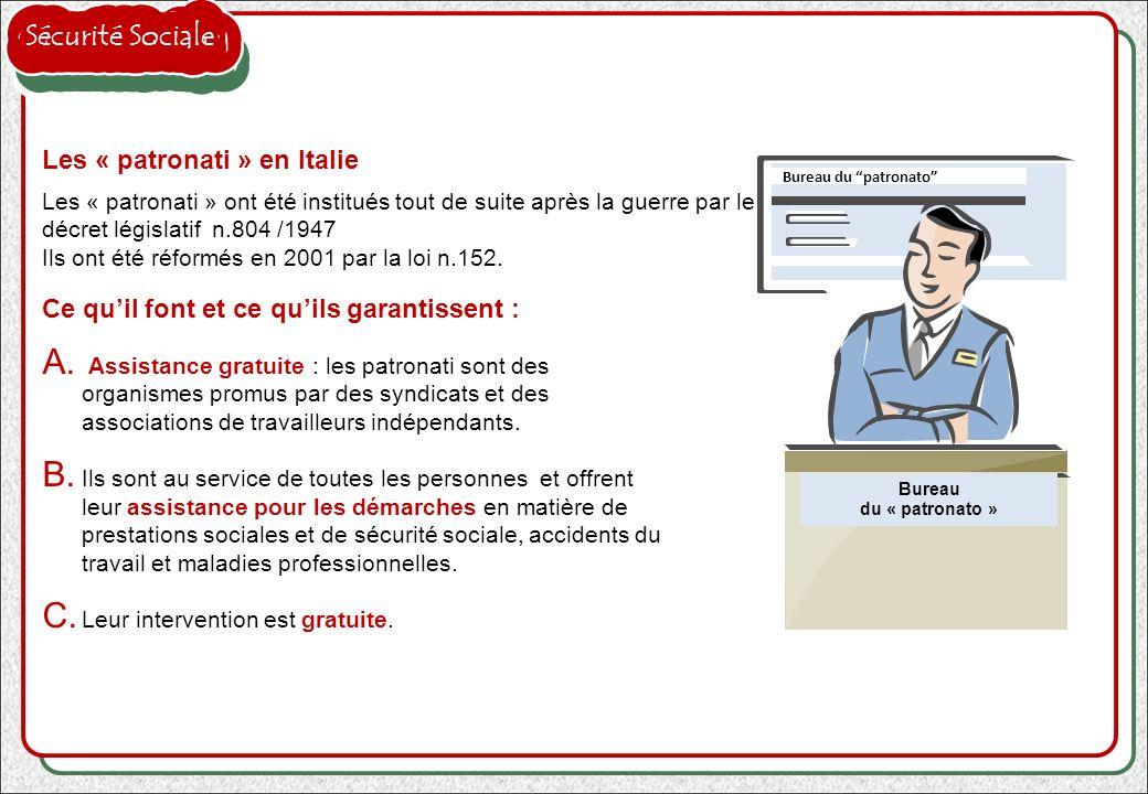 Sécurité Sociale Les « patronati » en Italie