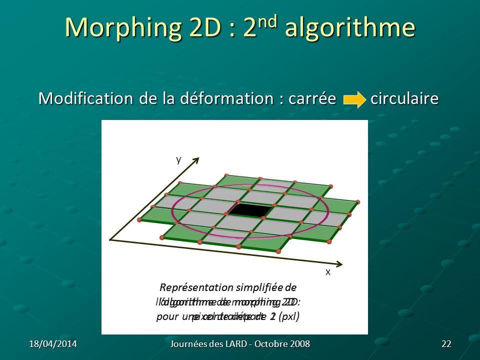 Morphing 2D : 2nd algorithme