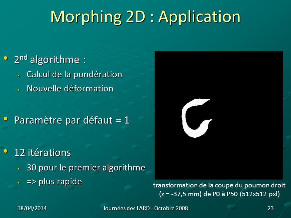 Morphing 2D : Application