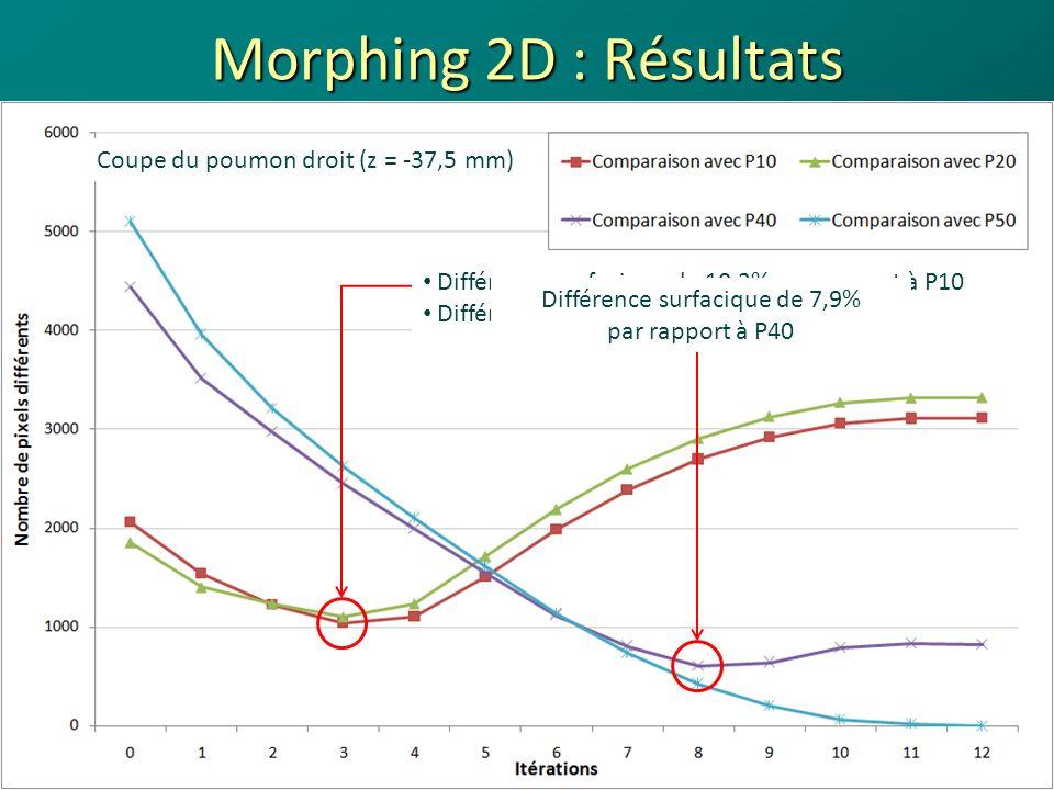 Morphing 2D : Résultats Coupe du poumon droit (z = -37,5 mm)