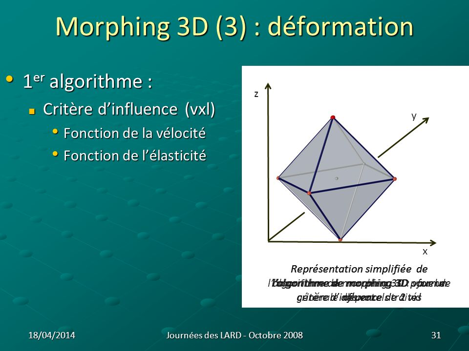 Morphing 3D (3) : déformation