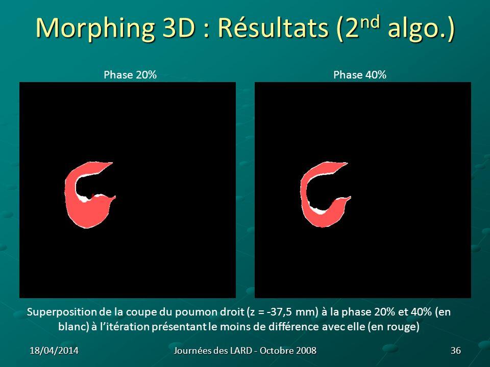 Morphing 3D : Résultats (2nd algo.)