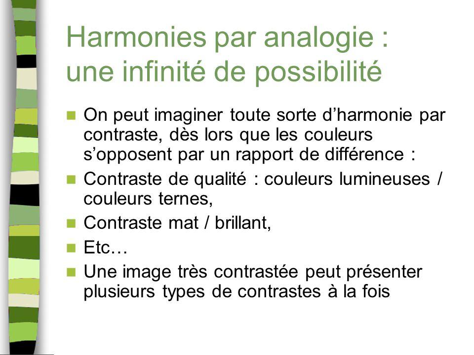 Harmonies par analogie : une infinité de possibilité