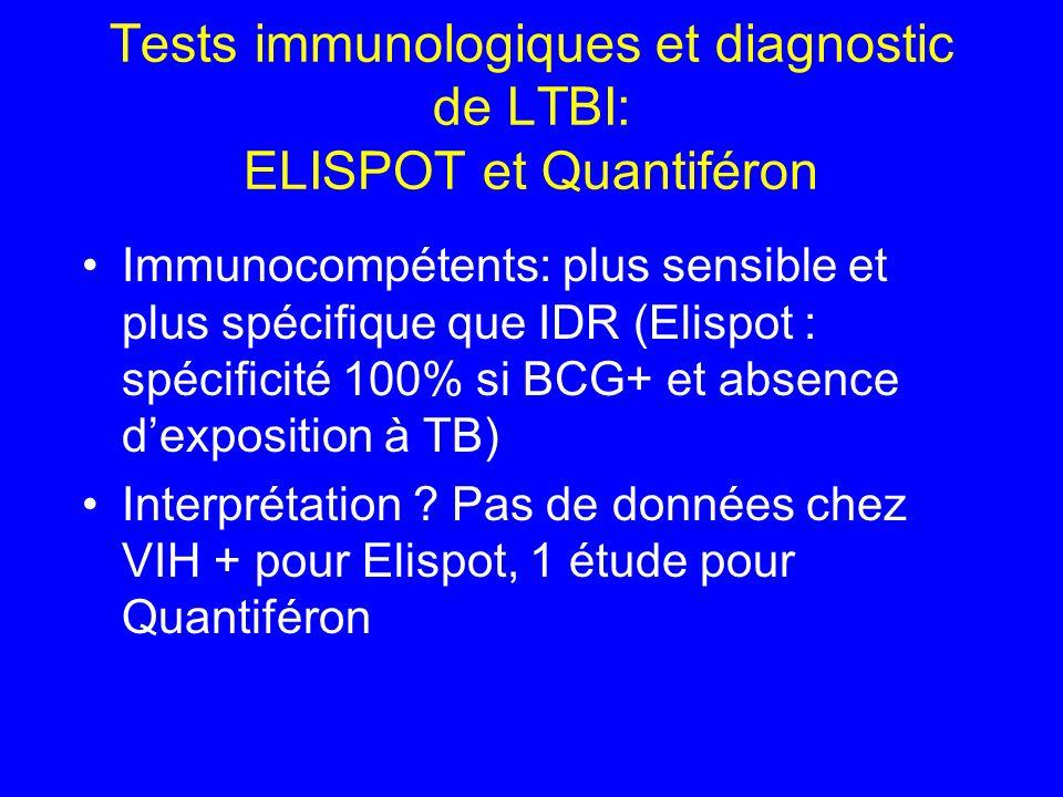 Tests immunologiques et diagnostic de LTBI: ELISPOT et Quantiféron