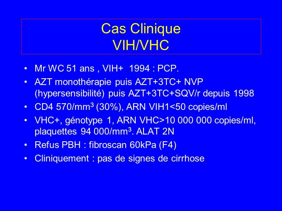 Cas Clinique VIH/VHC Mr WC 51 ans , VIH+ 1994 : PCP.