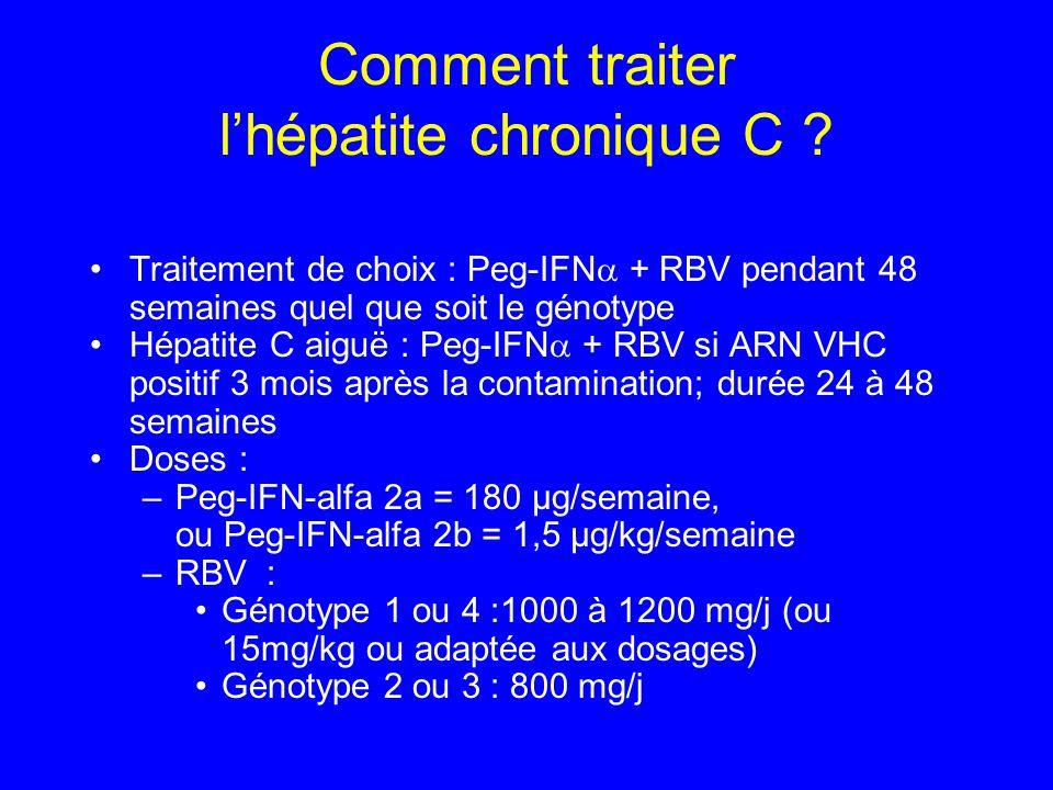 Comment traiter l'hépatite chronique C