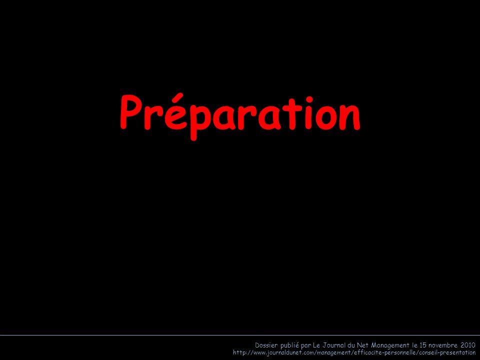 Préparation Dossier publié par Le Journal du Net Management le 15 novembre 2010.