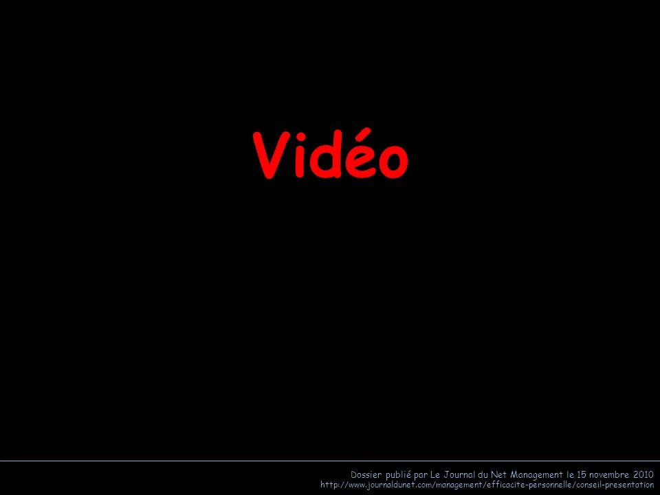 Vidéo Dossier publié par Le Journal du Net Management le 15 novembre 2010.