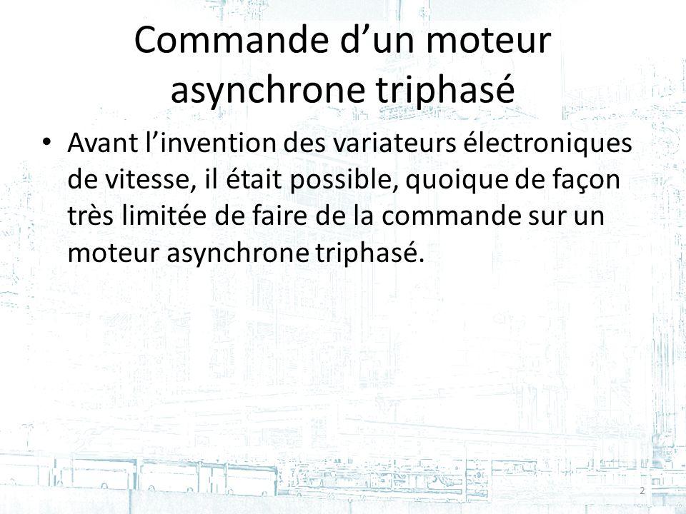 Commande d'un moteur asynchrone triphasé