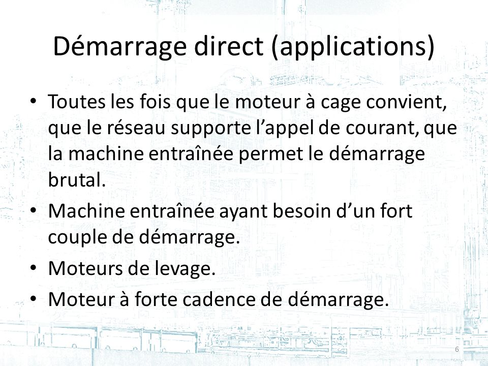 Démarrage direct (applications)