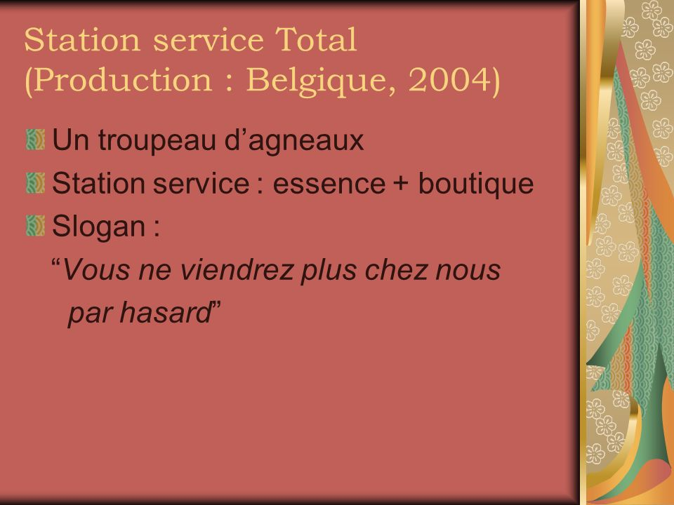 Station service Total (Production : Belgique, 2004)