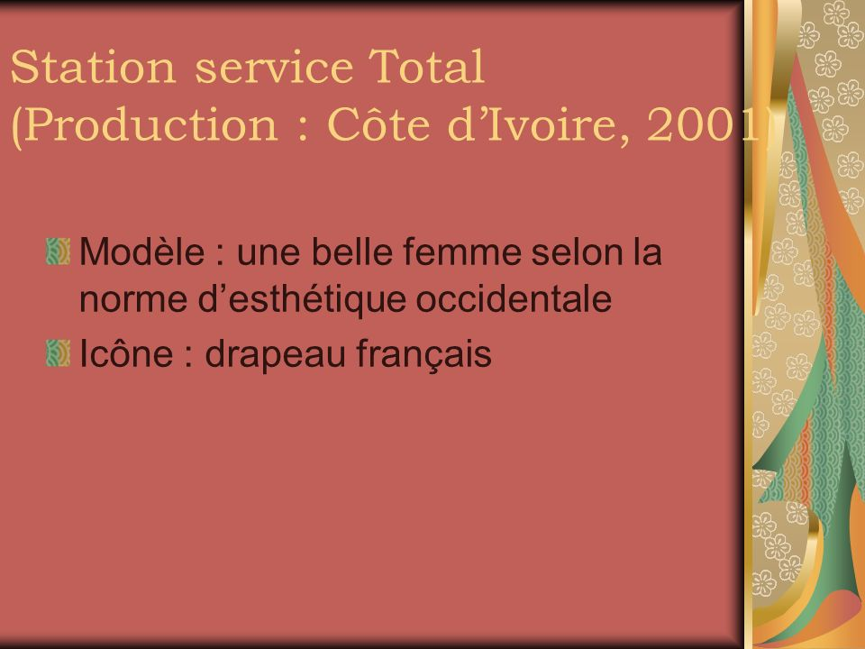 Station service Total (Production : Côte d'Ivoire, 2001)