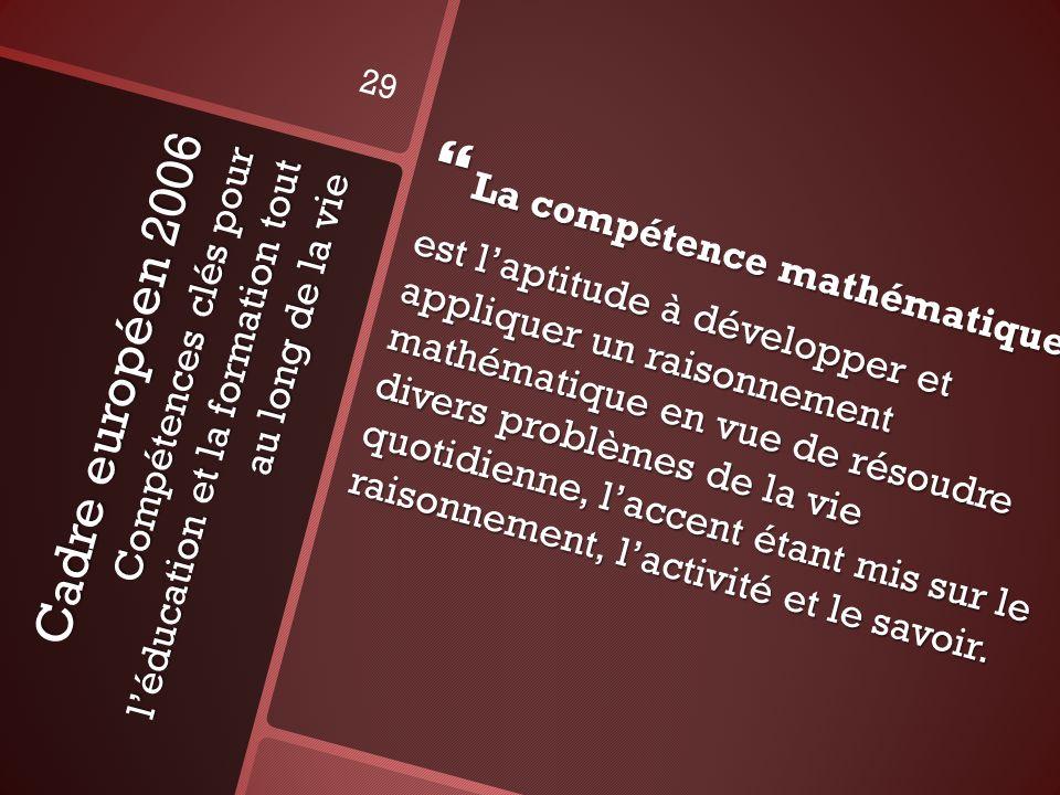 La compétence mathématique
