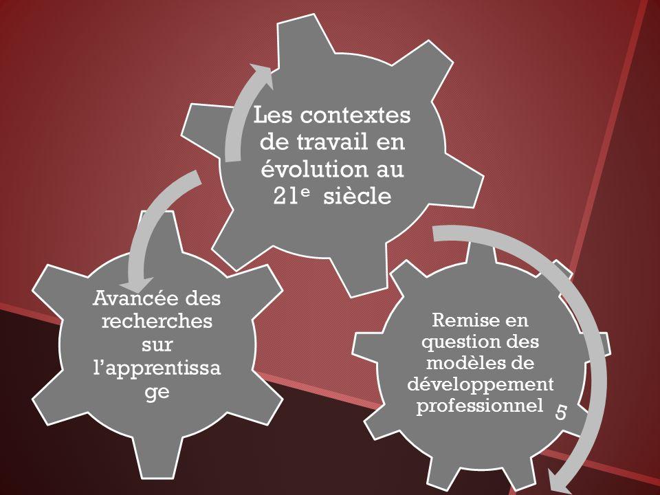 Les contextes de travail en évolution au 21e siècle