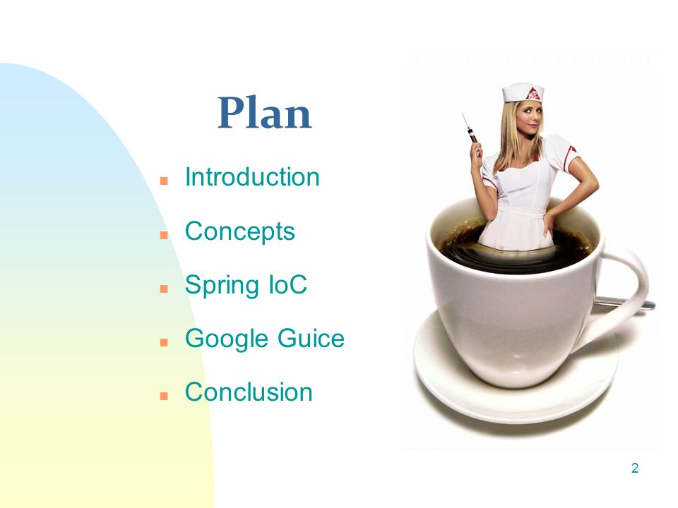 Plan Introduction Concepts Spring IoC Google Guice Conclusion