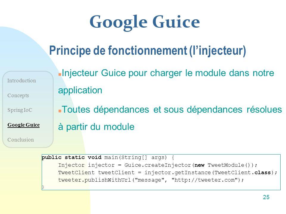 Google Guice Principe de fonctionnement (l'injecteur)