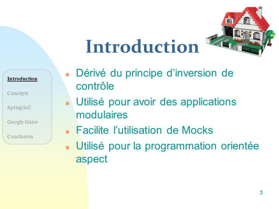 Introduction Dérivé du principe d'inversion de contrôle