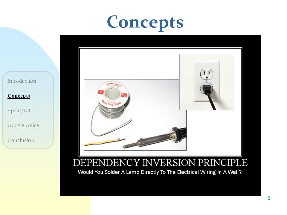 Concepts Introduction Concepts Spring IoC Google Guice Conclusion