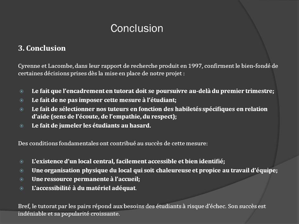 Conclusion 3. Conclusion