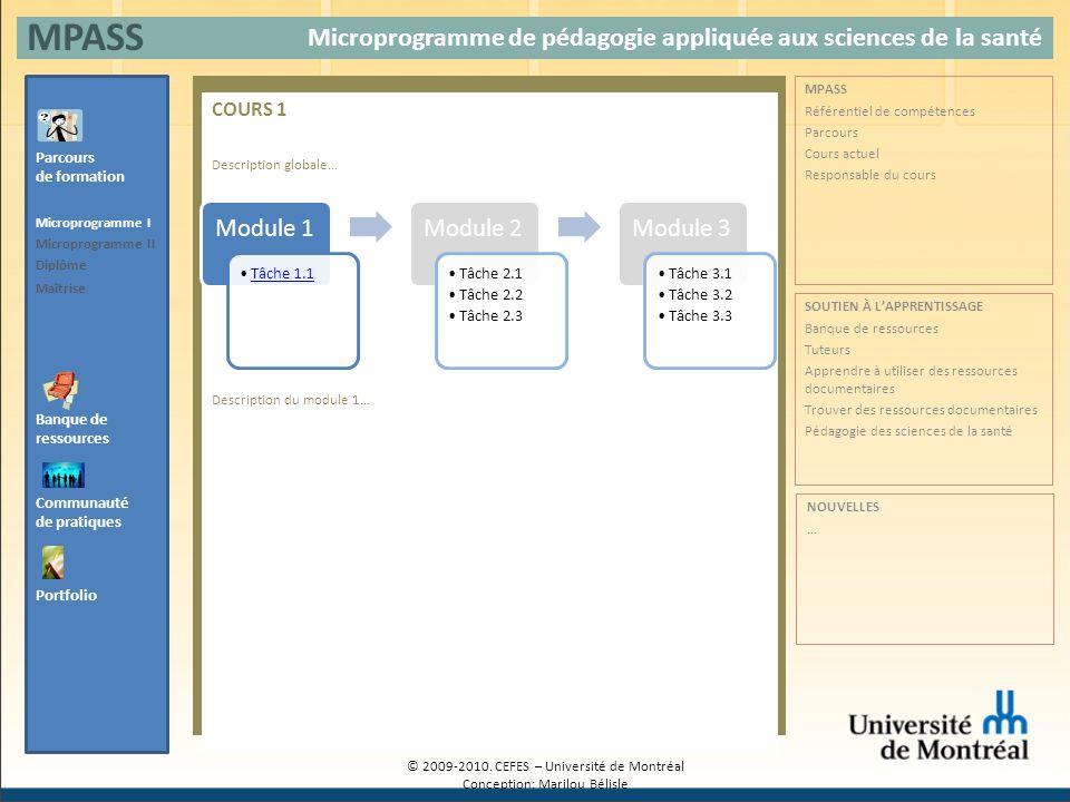 MPASS Microprogramme de pédagogie appliquée aux sciences de la santé