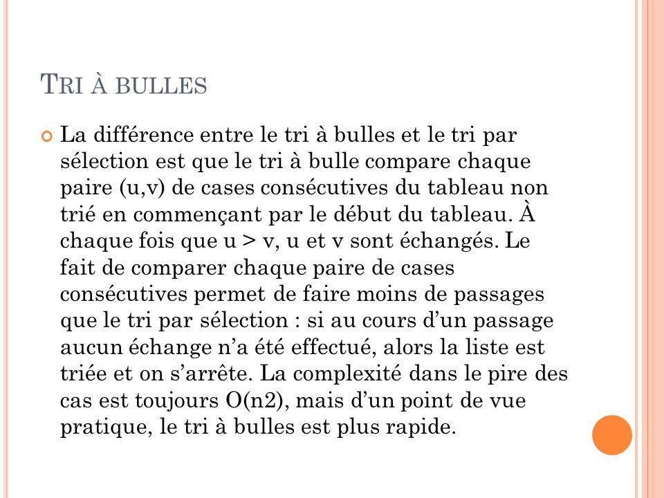 Tri à bulles